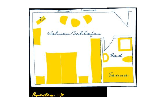 Sternhagens Landhaus Hotel und Restaurant auf Föhr Doppelzimmer Austernfischer (1)