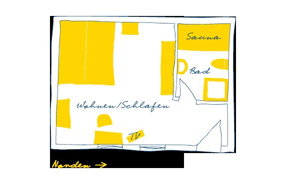 Sternhagens Landhaus Hotel und Restaurant auf Föhr Doppelzimmer Brandgans (3)