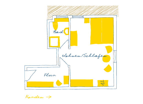 Sternhagens Landhaus Hotel und Restaurant auf Föhr Doppelzimmer Graugans (13)