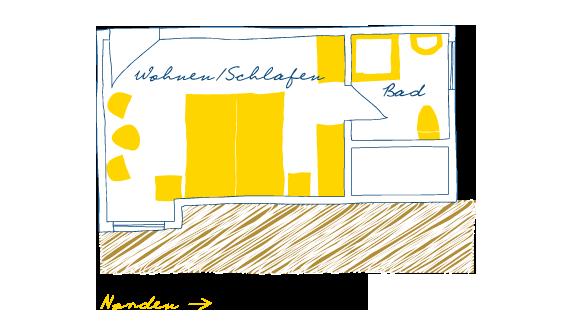 Sternhagens Landhaus Hotel und Restaurant auf Föhr Doppelzimmer Mantelmöwe (9)