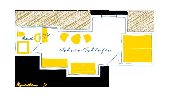 Sternhagens Landhaus Hotel und Restaurant auf Föhr Doppelzimmer Säbelschnäbler (14)