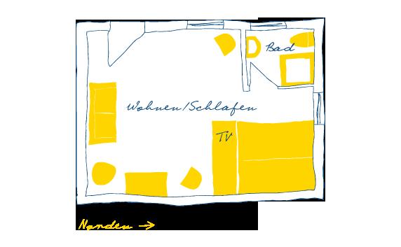 Sternhagens Landhaus Hotel und Restaurant auf Föhr Doppelzimmer Strandläufer (2)