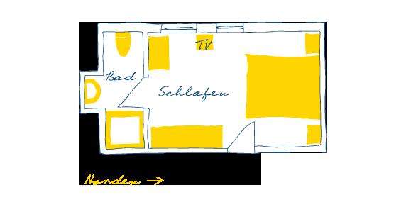 Sternhagens Landhaus Hotel und Restaurant auf Föhr Einzelzimmer Zwergseeschwalbe (5)